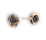 4mm Tahitian Pearl Orbit Earrings with Diamond