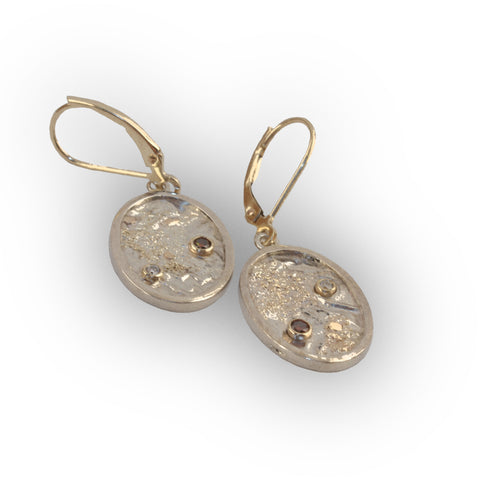 Two Diamond Moonscape Earrings