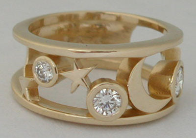 Stars and Moon Ring