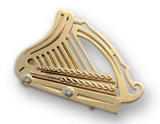 Golden Harp Pin