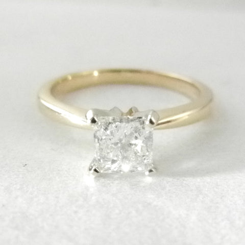Princess cut .50ct Diamond Solitaire Engagement Ring