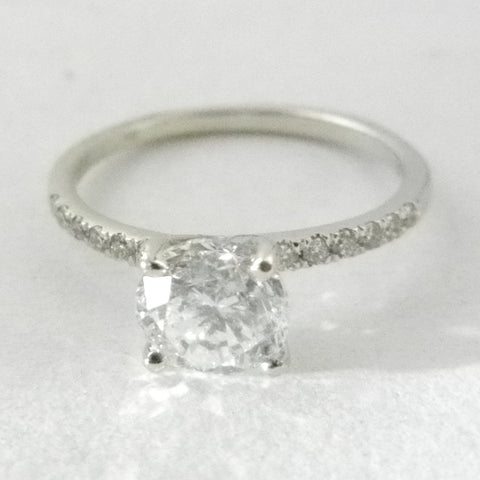 14kt Solitaire Round Diamond Engagement Ring