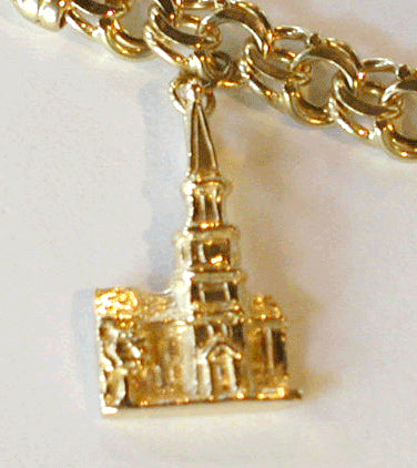 Alexandria City Hall Charm 14kt Yellow Gold