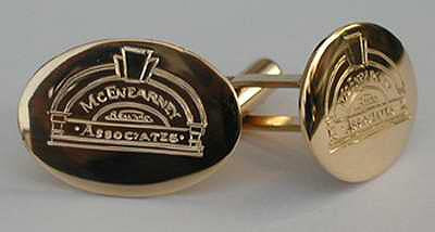 Cufflinks with Custom Logo