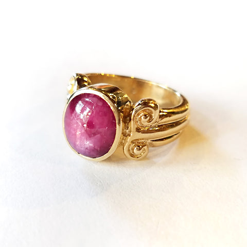 Star Ruby Column Ring