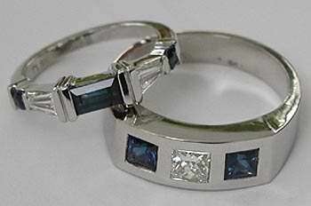 Platinum, Sapphire and Diamond Band
