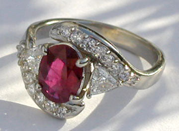 Ruby and Daimond Ring