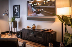 Smart home audio systems with turn table and soundbar