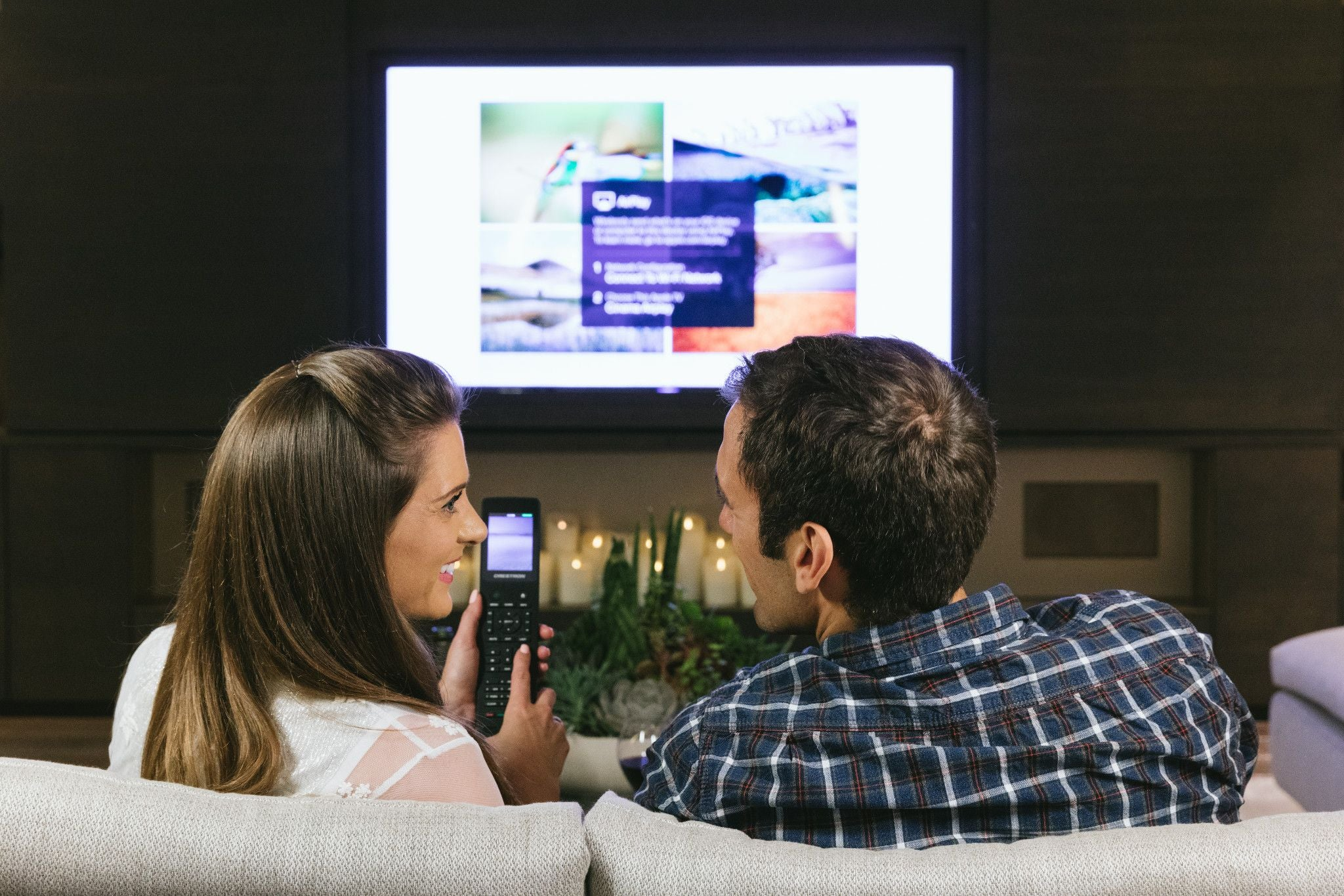 Smart home technology controlling TV