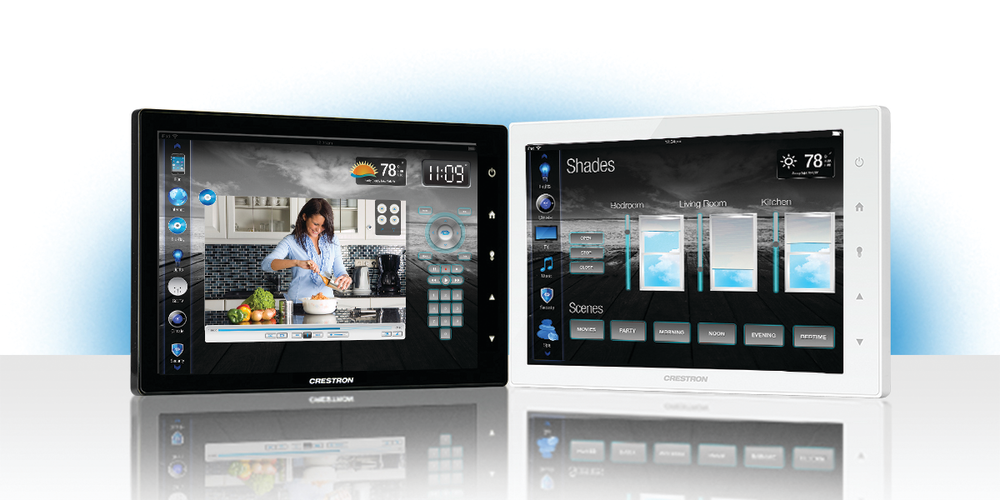 The Crestron TSW is one of the most advanced smart home controllers around