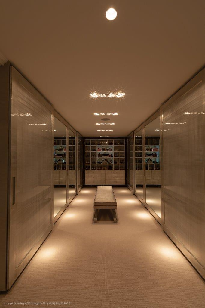 Hallway with ambient lighting