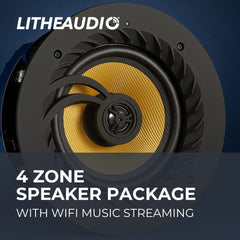 4 Zone In-Ceiling Wifi Speaker Package