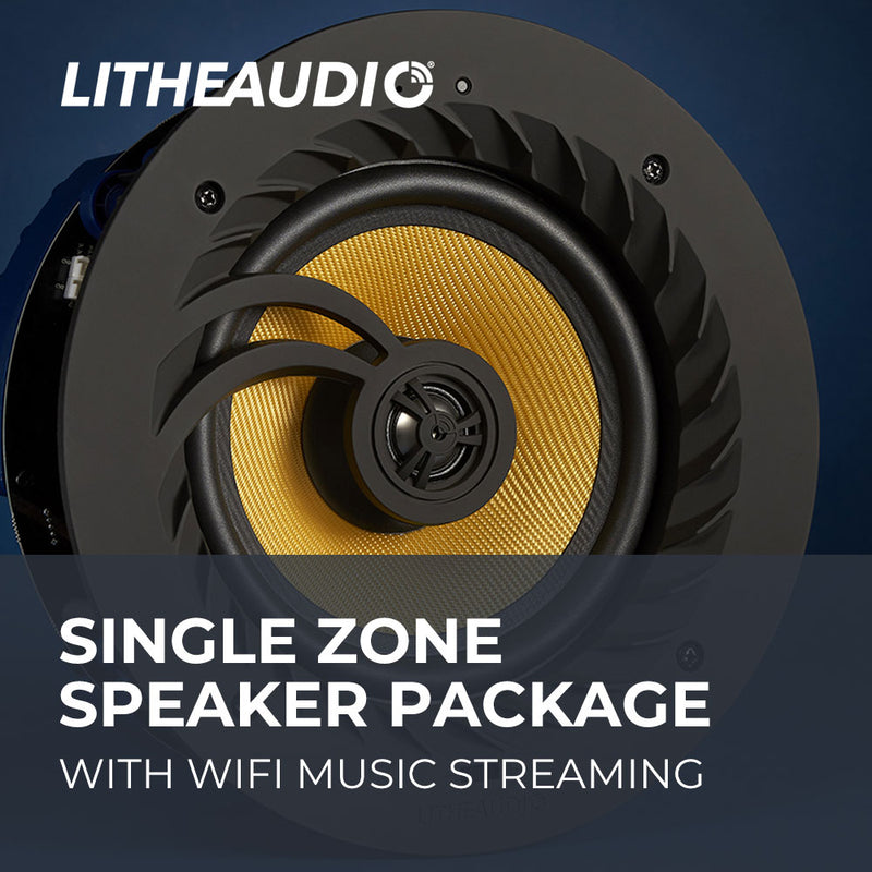 Single Zone In-Ceiling Wifi Speaker Package