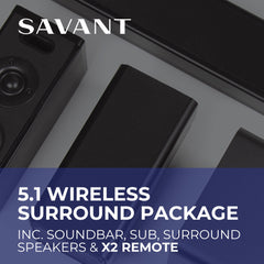 Savant 5.1 Wireless Surround Package
