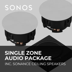 Sonos Single Zone In-Ceiling Audio Package