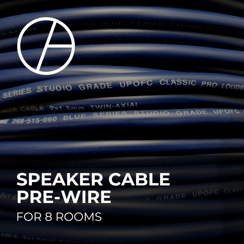 Speaker Cable Pre-Wire - 8 Rooms