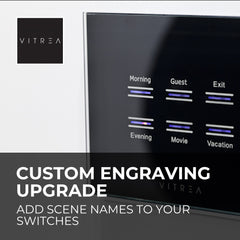 Vitrea Custom Engraved Keypad Upgrade - Single Switch - Glass