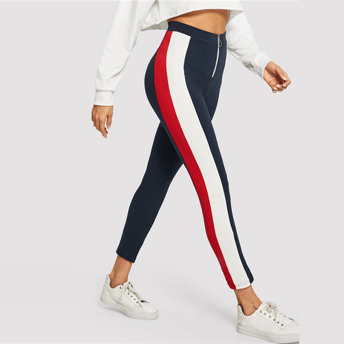 Athleisure Striped Pant