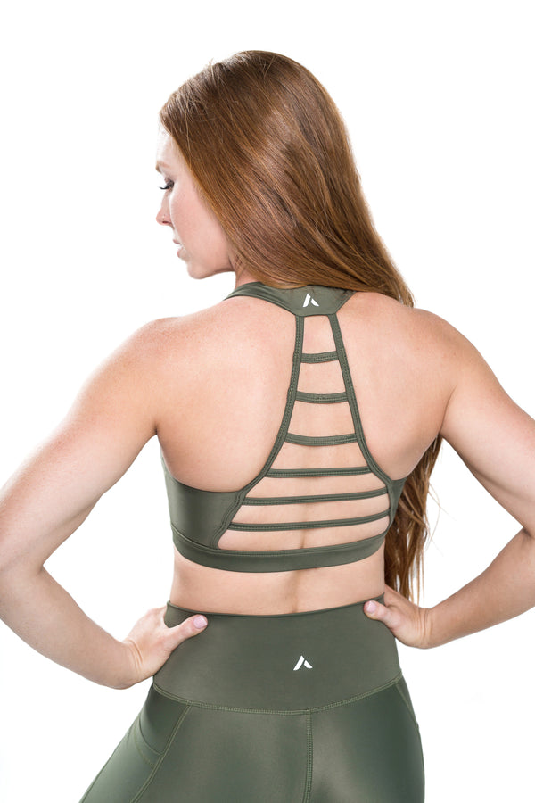 Flex Ladder Bra - Olive