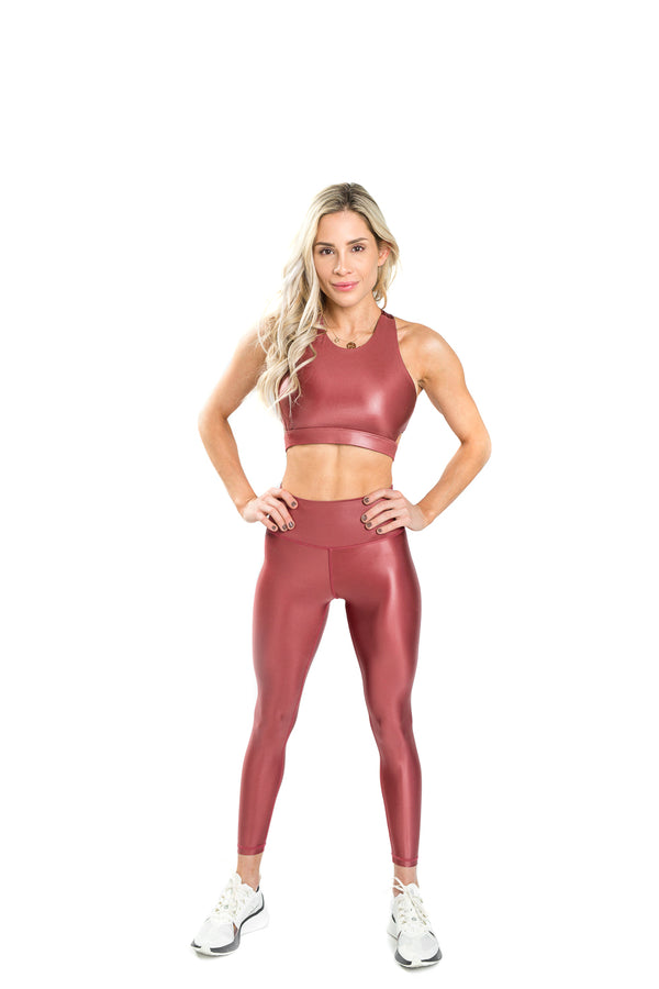 Shine Luxe Legging - Rust