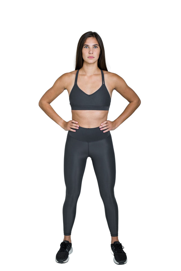 Suede Flow Legging - Iron