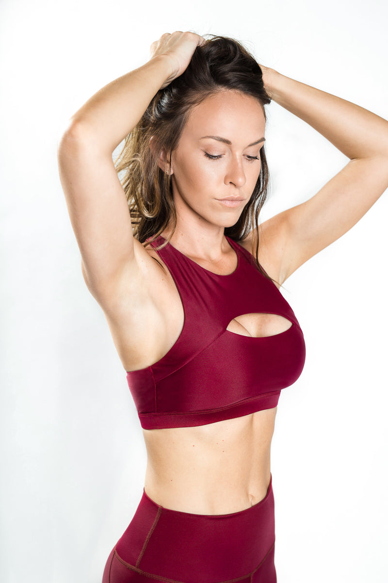 Flex Ladder Bra - Merlot