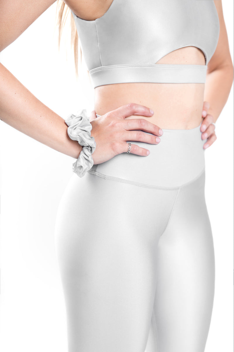 Shine V-Back Bra - Silver