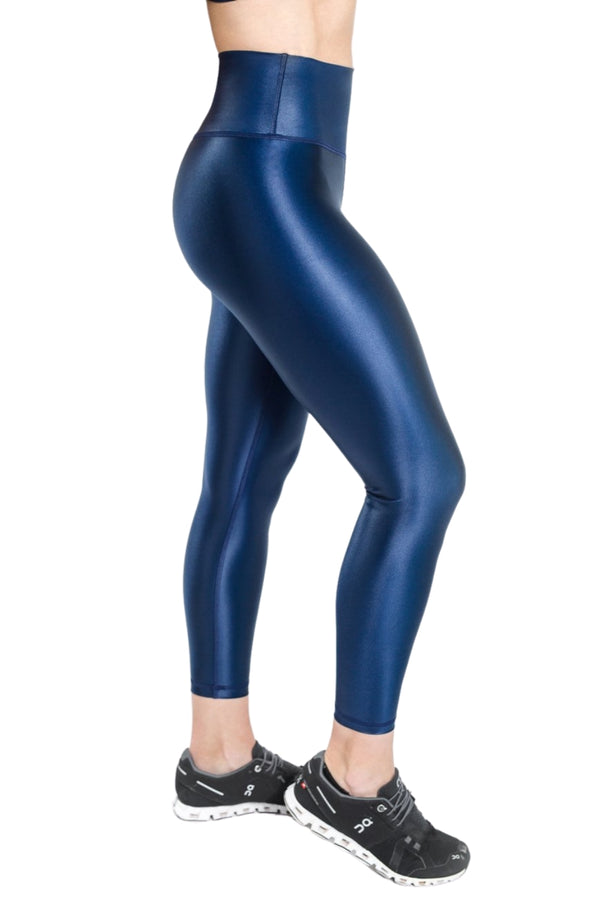 Shine Luxe Legging - Navy
