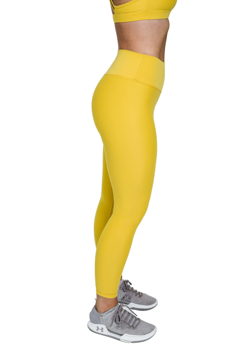 Suede Flow Legging - Yellow