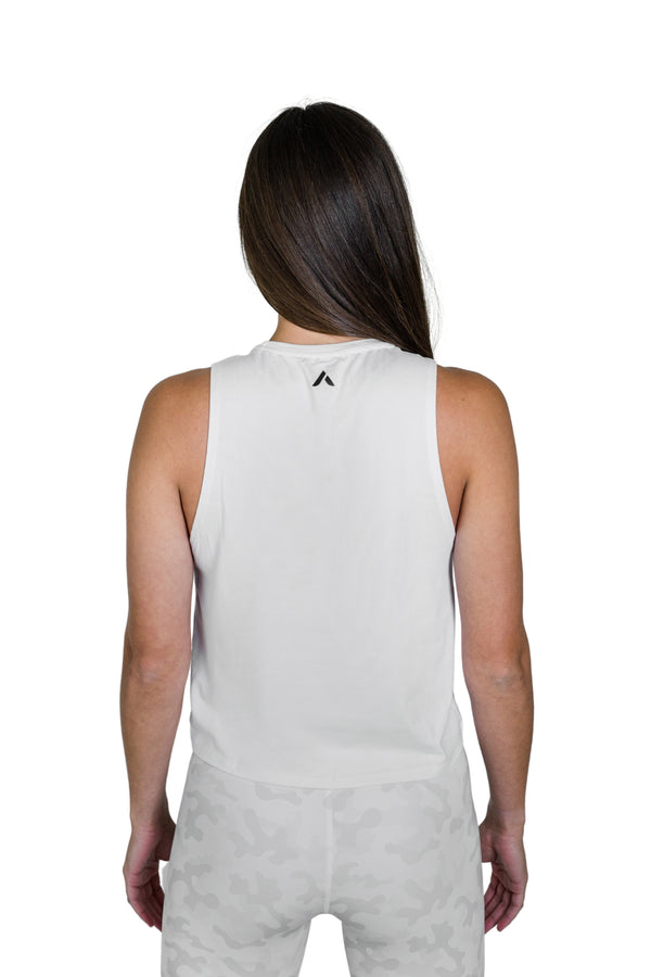 Everyday Crop Tank - White