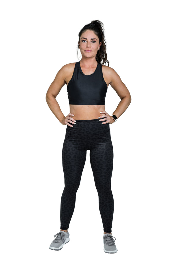 Movement Leopard Legging - Black