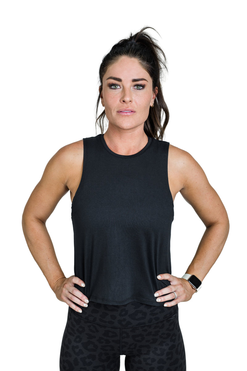 Everyday Crop Tank - Black