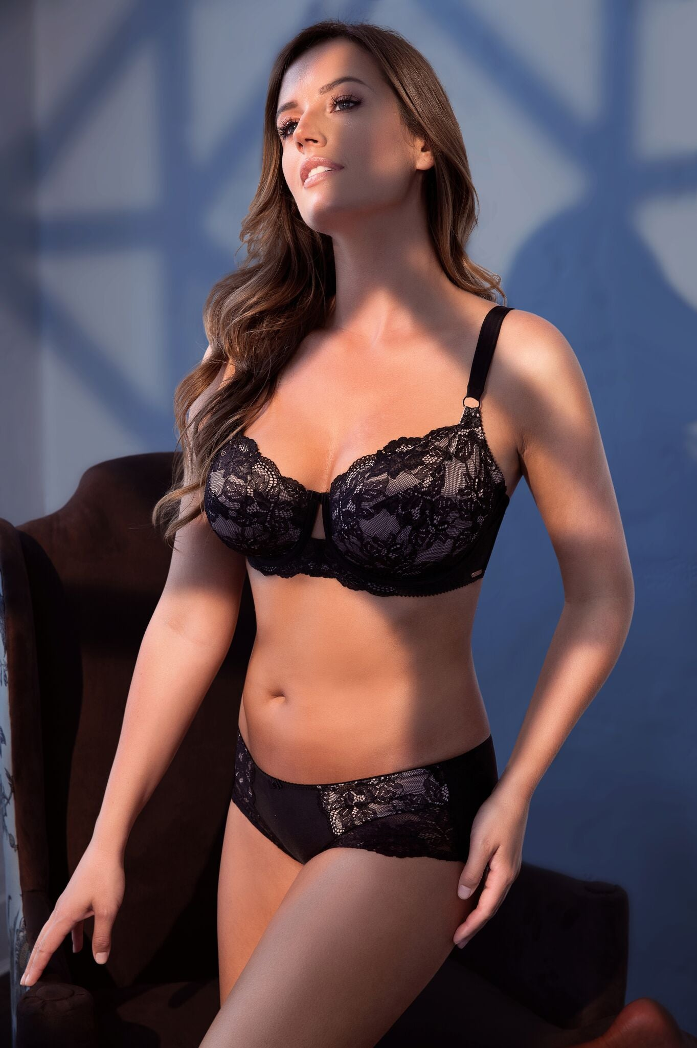 Marion Unlined Wire Black Lace Bra