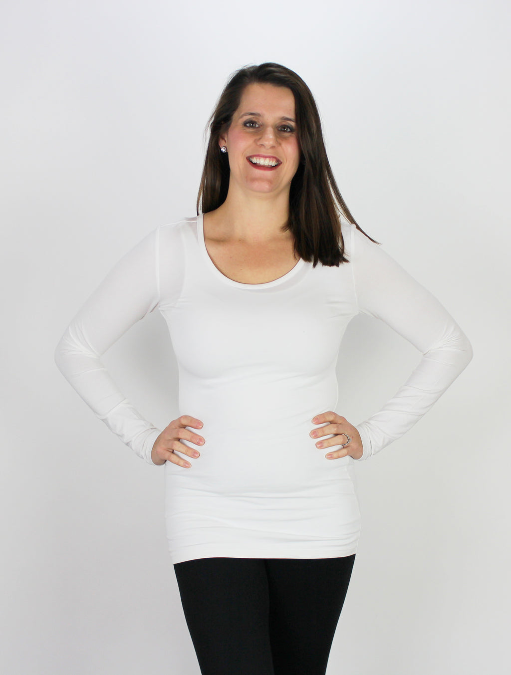 DownEast White Long Sleeve
