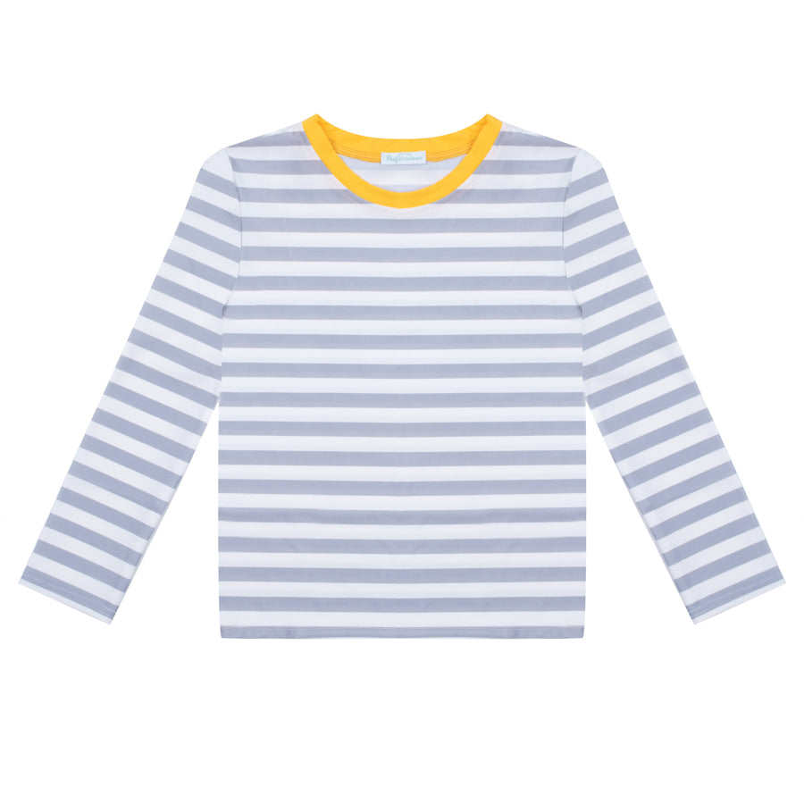 Albert Stripes Pale Grey - Tee-shirt anti UV à manches longues