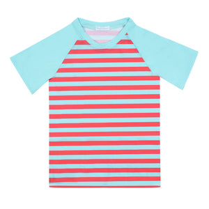 Axel Stripes Tropical Blue Poppy Seed - Tee-shirt anti UV