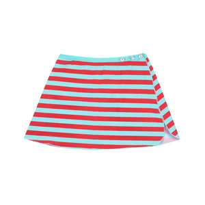 Cécile Stripes Tropical Blue Poppy Seed - Jupe Paréo