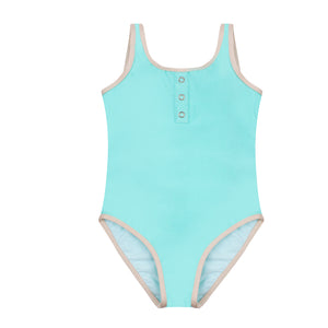 Charlotte Tropical Blue - Classic One piece swimsuit