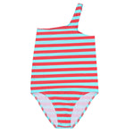 Gina Stripes Tropical Blue Poppy Seed - Maillot de bain une bretelle
