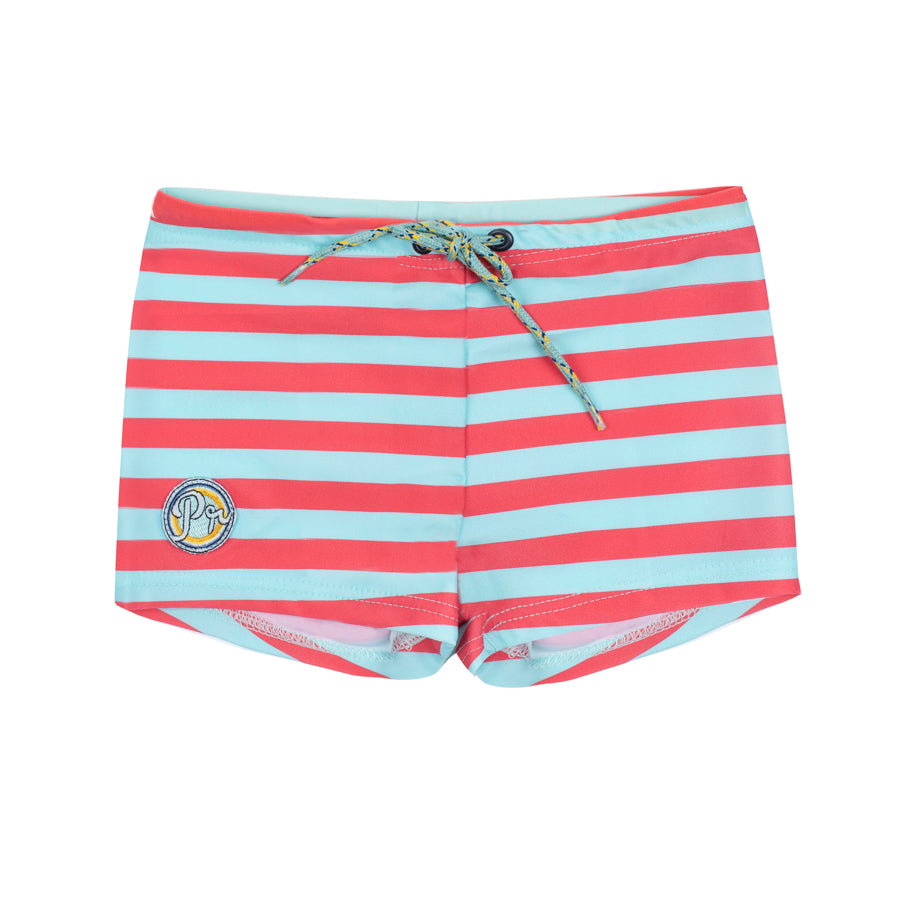 Kael Stripes Tropical Blue Poppy Seed - Boxer short