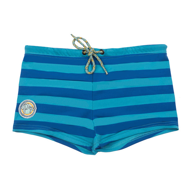 Kael Boxer short - Stripes Sea Blue Ocean
