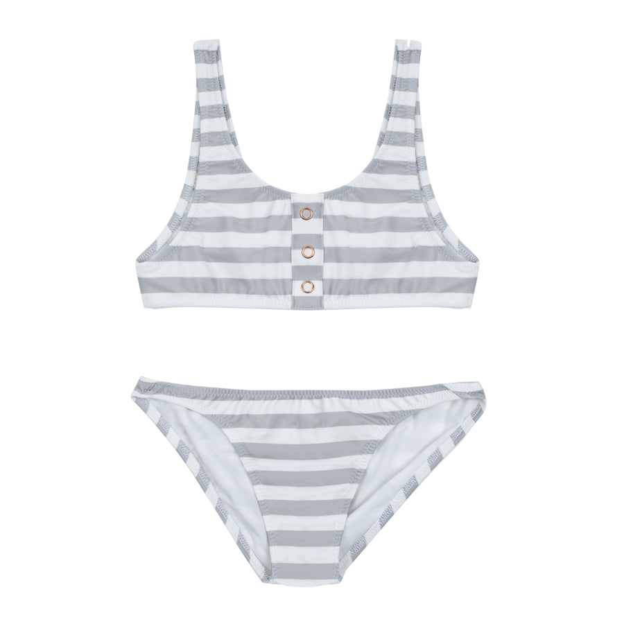 Salome Stripes Pale Grey - Bikini