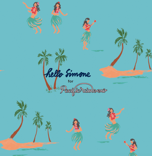 Lisa One piece swimsuit - Aloha - Hello Simone X Pacific Rainbow