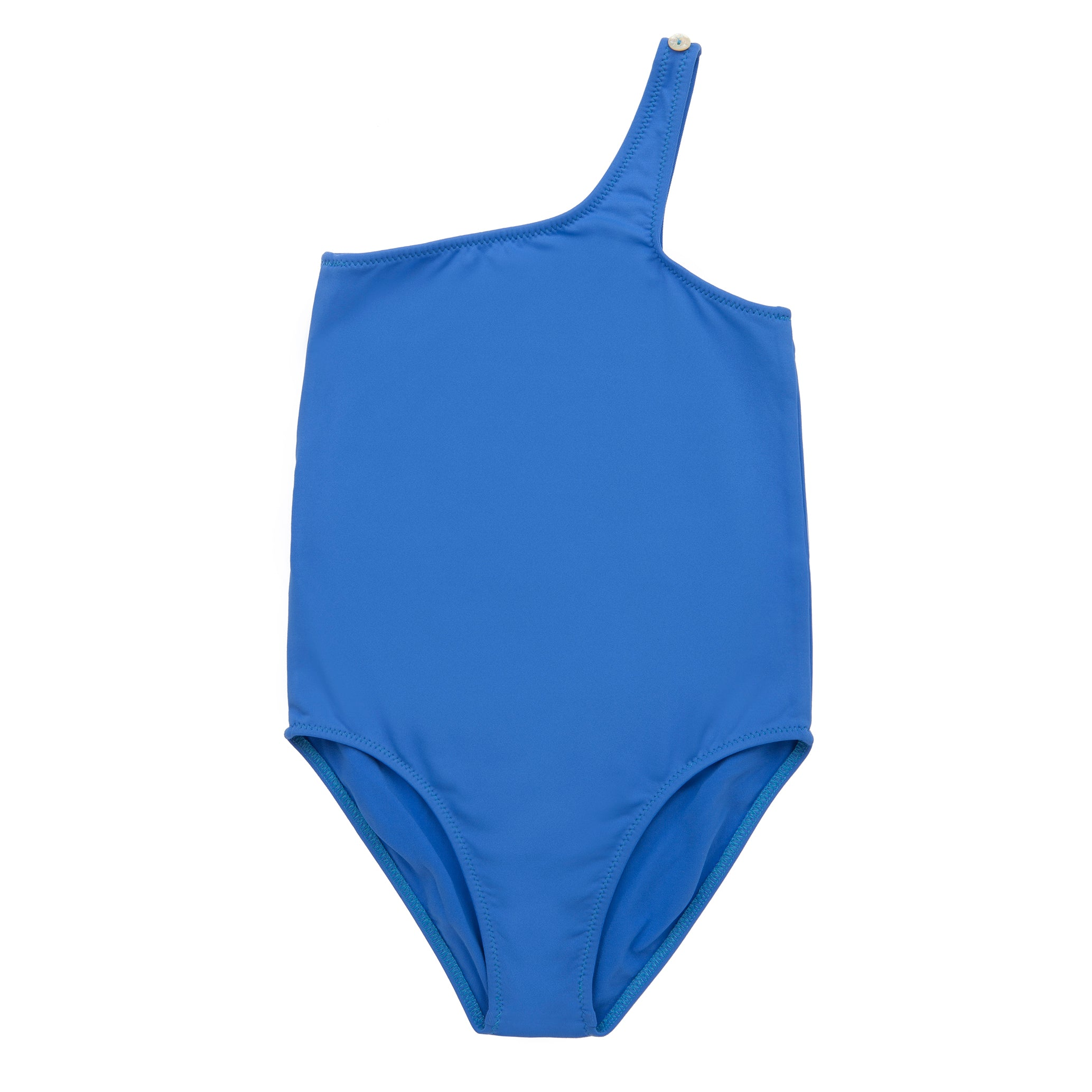 Gina One strap swimsuit - Ocean blue