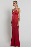 Nora V-Neck Gown B24D10-L by Bariano - Red