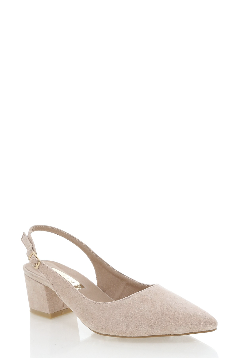 Brooke Heels by Billini in Blush Suede
