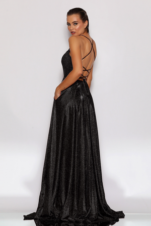 JX2106 Gown by Jadore- Black