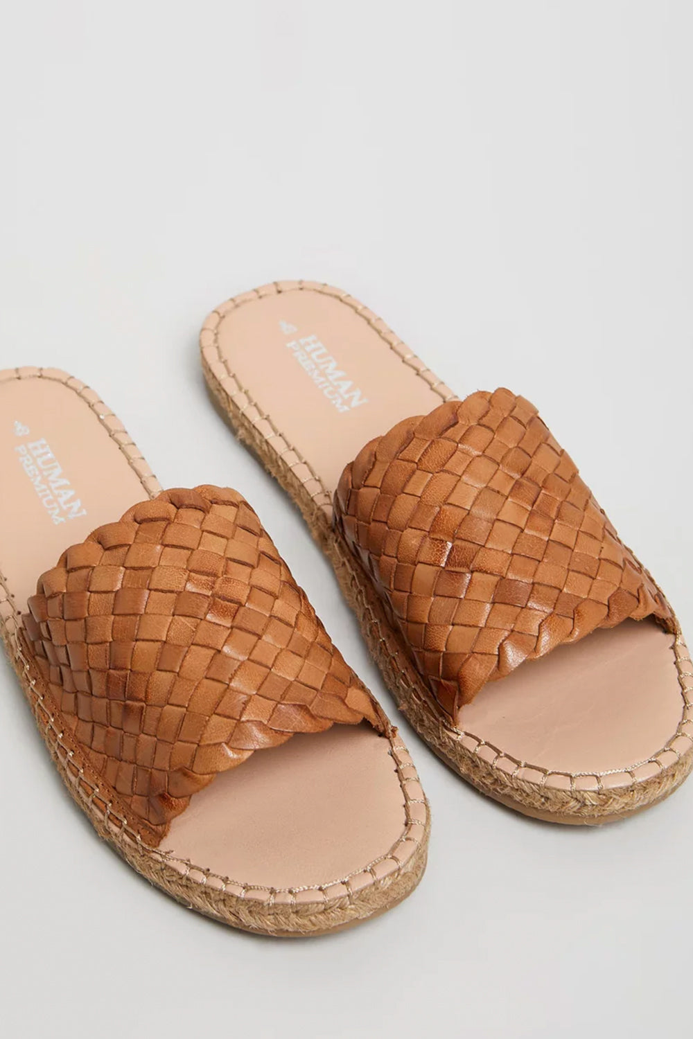 Chrissy Woven Flat by Human Premium - Tan