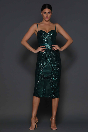 Jones Dress by Elle Zeitoune in Emerald Green