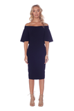 Pasduchas Envogue Midi Dress in Navy